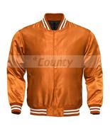 Letterman Baseball College Varsity Bomber Sports Wear Super Jacket Orang... - $49.98+