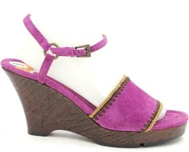 Aerosoles Women Slingback Sandals Lodge Ball Size US 9M Pink Suede Ankle Strap - $36.06
