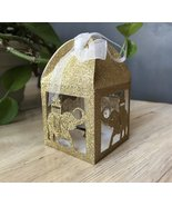 100pcs Elephant Glitter gold Small Gift Boxes,Laser Cut Wedding Favor Boxes - $48.00
