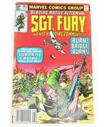 Sgt Fury Howling Commandos #165 Comic Book August 1981 Fine 6.0 Grade Marvel - $2.66