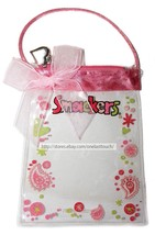Lip Smacker* 1pc Empty Bag Coin Purse Clear+Pink+Bow+Paisley Balm Storage New! - $2.48
