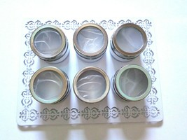 New Avon Stainless Steel Magnetic Spice Rack with 6-Piece Multi-Purpose - £7.66 GBP