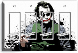 THE JOKER BATMAN DARK KNIGHT 4 GFCI LIGHT SWITCH WALL PLATE COVER ROOM A... - $21.99