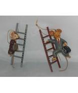 2 Kurt Adler Corporate Ladder Mice Ornaments Male and Female Mice - $12.87