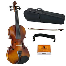 Sky Solid Wood Violin 4/4 Full Size LEFT HAND Style w Case, Rosin and Bow - $99.99