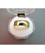 VTG 14k Yellow Gold Wedding Band Wide 5.73g Ring SZ 10.5 Etched Star 6.8... - $257.39