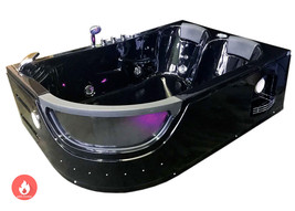 Whirlpool bathtub hydrotherapy black hot tub double pump + Heater ORION ... - $2,599.00
