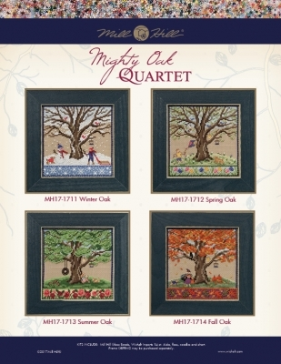 Spring Oak 2017 Quartet Mighty Oak tree series cross stitch kit  Mill Hill