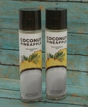 2 Bath & Body Works Coconut Pineapple Fine Fragrance Mist 8 fl oz NEW - $44.55