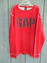 Gap Boy's XL 12 100% Cotton Long Sleeve Solid Red Thermal Waffle Knit Shirt - $20.80