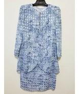 Patra Womens Dress Size 8 Blue Formal Gown Layered Rhinestones & Metalli... - $32.76