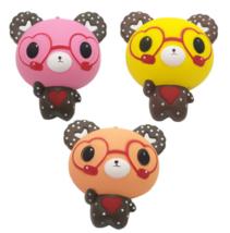 Squeeze Stress Stretch Squishy 12CM Eyeglass Bear Slow Rising Toys Kids Gift New - $3.68