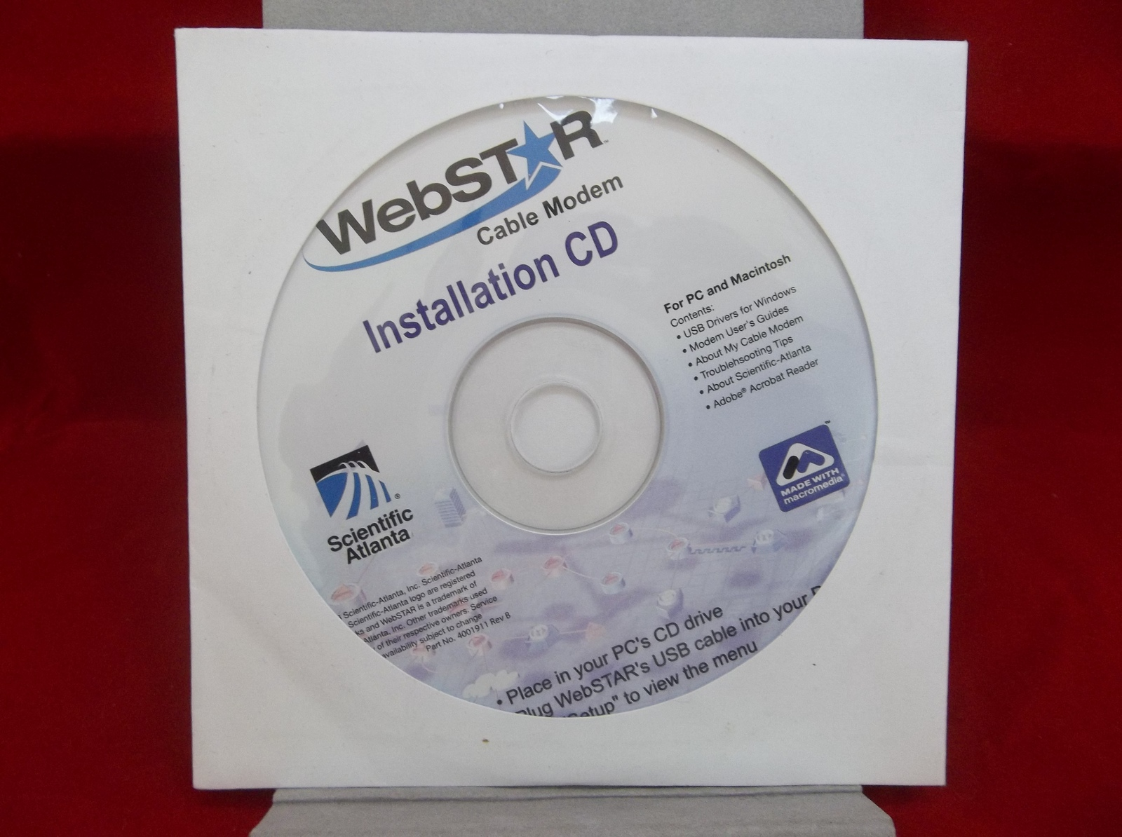 Webstar Cable Modem Installation Cd Disc And 50 Similar Items