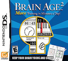 Brain Age 2: More Training in Minutes a Day (Nintendo DS, 2007) - $1.48