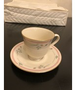 Lenox Rose Manor Pink Floral Gold Trim Coffee Cups (12)and Saucers(11) - $296.01