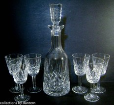 Waterford Crystal Lismore Decanter and Six Sherry Goblets - $475.00