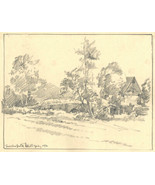 Marcus Adams - 1930 Graphite Drawing, Mill - $33.77