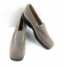Stuart Weitzman Womens Loafers Platform Fabric Stretch Grey $245 Slipon ... - $49.32