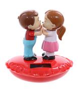 Cute Children's on Heart Valentine's day Gift, Motion Solar Power figurine - $12.64