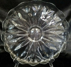 Vintage Heisey Glass-Depression, Sunflower Pattern, Lg Serving Platter, c1938-42 - $15.00