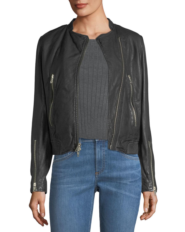 Classical Racer Choice Women's 100% Genuine Soft Lamb Skin Leather biker Jacket