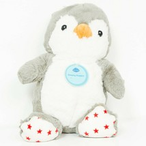 "Cloud B Dreamy Hugginz Penguin Plush 12"" New Gray White Red Star Feet St... - $19.58"