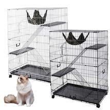 "51x35x22"" Extra Large Cat Pets Crate Playpen 2 Door Cage Hammock Folding... - $154.99"