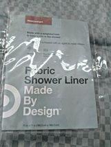 Waterproof Heavyweight Basket Weave Shower Liner Sleek Gray - 71''X71'' GREY  image 3
