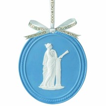 WEDGWOOD BLUE JASPERWARE MUSE OVAL 2013 ANNUAL ORNAMENT NEW IN BOX (s) - $19.79