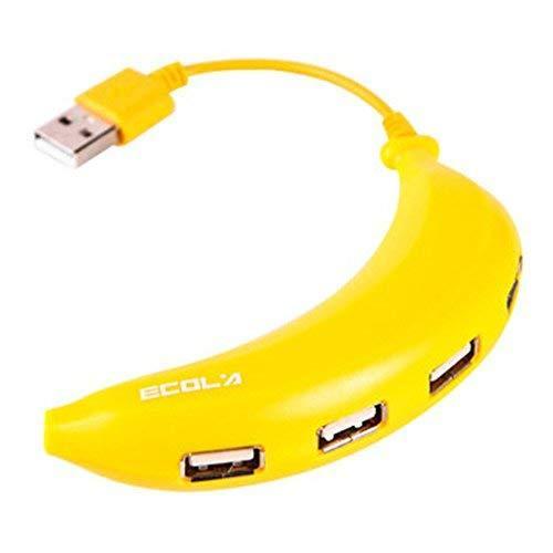 Creative Banana USB HUB 4-Port High-Speed Computer USB Hubs YELLOW