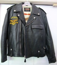 J K WORK Racing Division Leather Motorcycle Biker Jacket Italy Black XL ... - $299.95