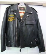 J K WORK Racing Division Leather Motorcycle Biker Jacket Italy Black XL ... - $299.95