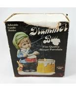 Vintage 1978 Christmas Luvkins Drummer Boy Figurine Porcelain Candle Hol... - $9.49