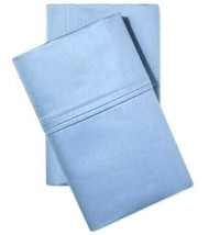 Threshold Performance Solid Pillowcases 400 Thread Count, Blue, King free ship image 1