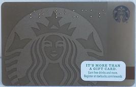 Starbucks New Empty Fillable Bronze Logo Braille Gift Card - $0.99