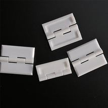 4x WHITE Acrylic Hinges 45mm x 38mm Hinges, Continuous Acrylic Piano Hinge - $18.02