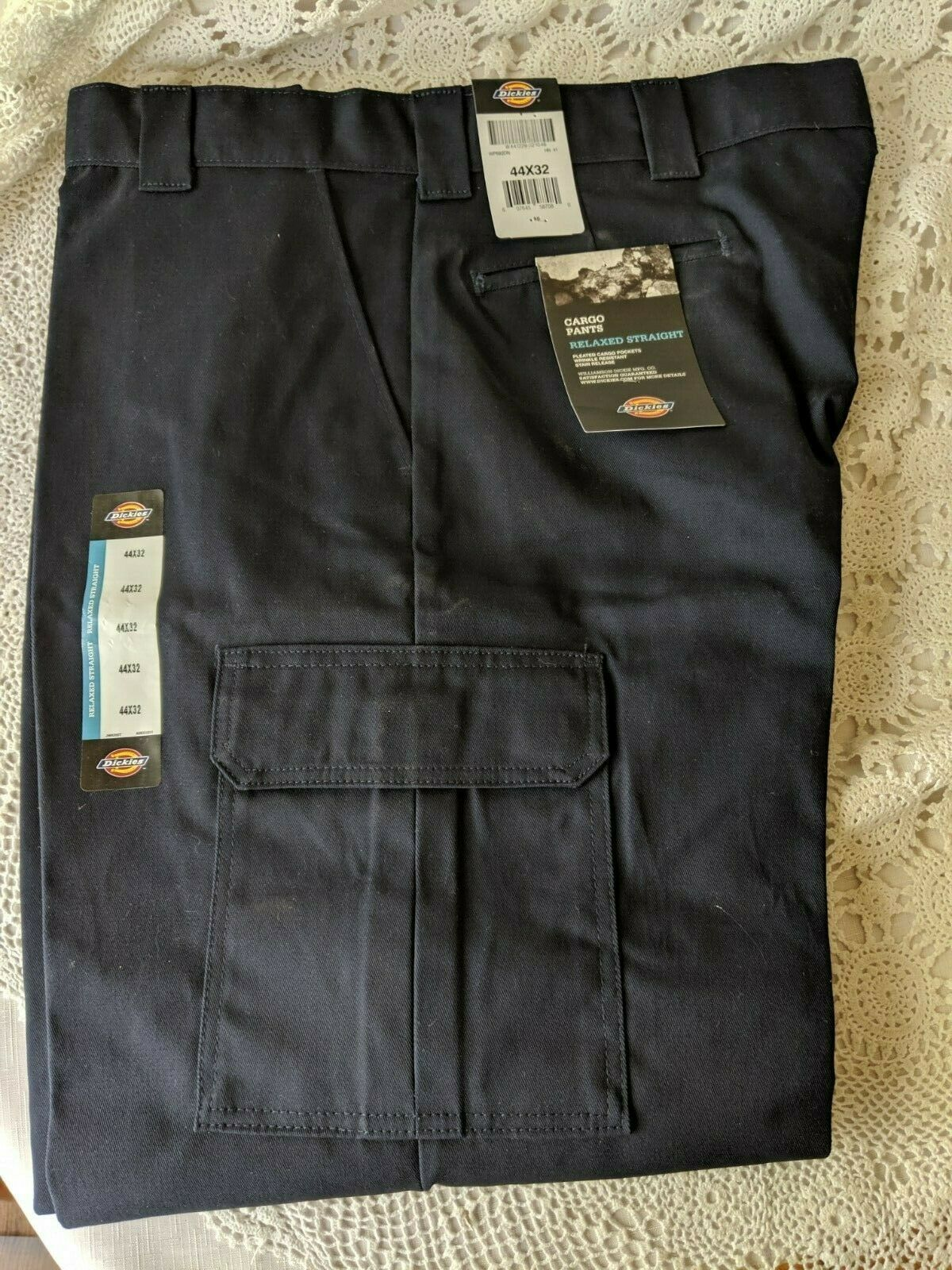 Primary image for Men's Dickies Navy Blue Cargo Pants Size 44 x 32 NWT