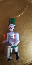Vintage Wood Figure Drummer Male Soldier Christmas Xmas Holiday tree Orn... - $15.79
