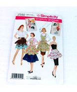 Simplicity 2592 Aprons Sz 10 to 20 Retro Look Pattern 50s 60s styles - $12.99
