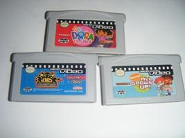 3 GBA Videos DORA THE EXPLORER Cartoon Network Nintendo Game Boy Advance... - $10.38
