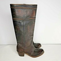 Frye Jane 77237 Campus Riding Boots Size 6 Brown Distressed Leather - $96.49