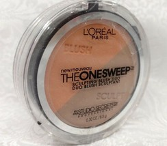 L'oreal The One Sweep Sculpting Contour Face Blush Duo 825 Nectar .30 Oz New - $7.84