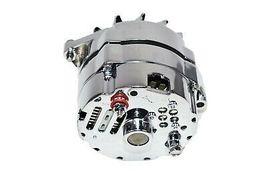 SBC BBC GM CHEVY Chrome 110 Amp Alternator with 1 Wire Setup 305 350 383 400 454 image 4