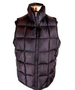 Eddie Bauer Womens Vest L Black Goose Down Insulated Quilted Puffer Full... - $49.49