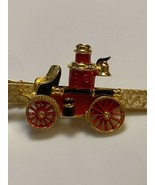 Vintage Fire Truck Tie Tack Firefighter Fireman Gold Tone Old Pump Wagon... - $14.00