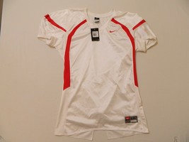 M30 New NWT NIKE Crack Back Blank White Game Jersey MEN'S 2XL - $23.71