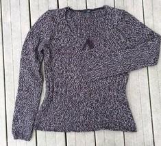 J Crew Women's Sweater Brown Varigated Bow Scoop Neck Peplum Size Small - $22.30