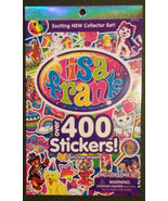 LISA FRANK STICKER BOOK 400 Stickers 5 pages Animals Pets Dog Cat Rainbow - $4.99