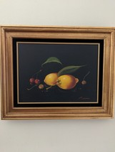 Original Oil Painting Still Life Canvas P Chiron 1900's 16 x 12 Lot WS - $345.00