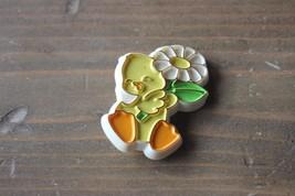 Vintage Plastic Duck Holding Flower Hallmark Pin Brooch - $5.93